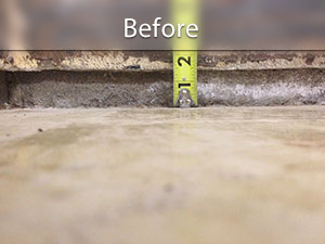 Interior Slab Leveling in North Carolina and Virginia | Greater