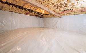 Crawl Space Moisture Barrier After in Winston Salem