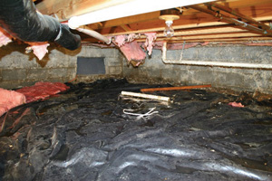 Crawl Space Repair Before in Greensboro