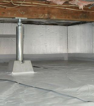 Installed crawl space insulation in Boone