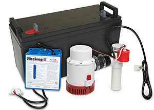 a battery backup sump pump system in Oak Ridge