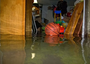 Flooded basement in Greensboro
